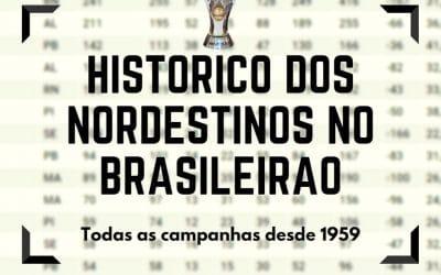 As melhores campanhas dos clubes do Nordeste no Brasileirão (1959/2017)