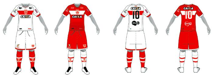 Os uniformes dos principais times do Nordeste cadastrados na CBF em ... 2756bef43e3b9