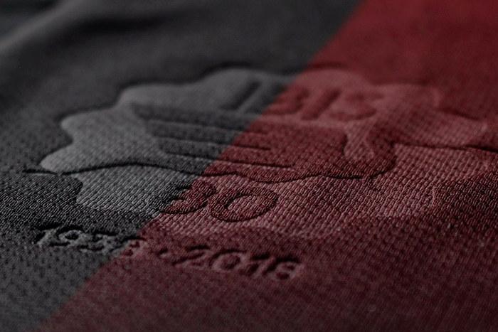 A primeira linha de uniformes do Íbis via Erreà, já celebrando os 80 anos