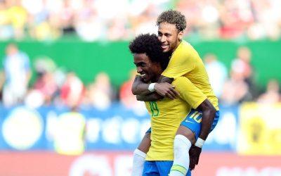 Brasil goleia no último jogo antes da Copa. Gols de Jesus, Neymar e Coutinho