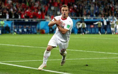 Diante da Sérvia, a Suíça consegue a primeira vitória de virada da Copa