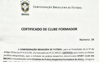 Os 45 clubes formadores certificados pela CBF em 2018, com 5 no Nordeste