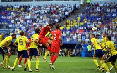 No jogo aéreo, a Inglaterra elimina a Suécia e volta à semi após 28 anos