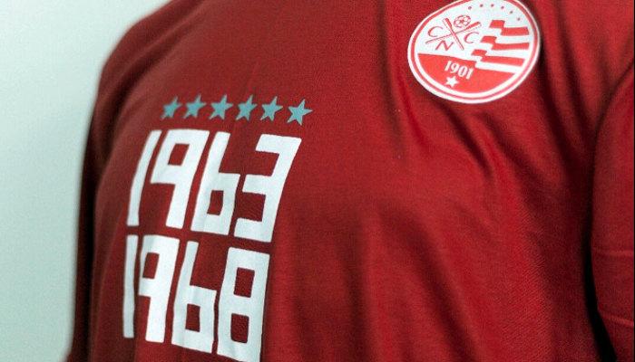 As camisas comemorativas do Náutico pelos 50 anos do hexacampeonato