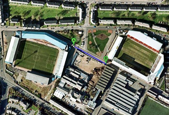 Os estádios de futebol mais próximos do mundo. Rivais de até 100 metros