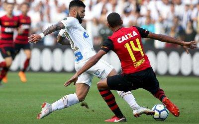Sport é goleado pelo Santos na Vila Belmiro na volta de Eduardo Baptista