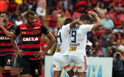 Com gol de Diego Souza, o São Paulo vence Sport na Ilha. 8 jogos de jejum