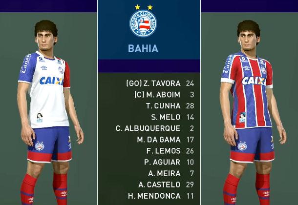 As imagens de Sport, Bahia, Ceará e Vitória no Pro Evolution Soccer
