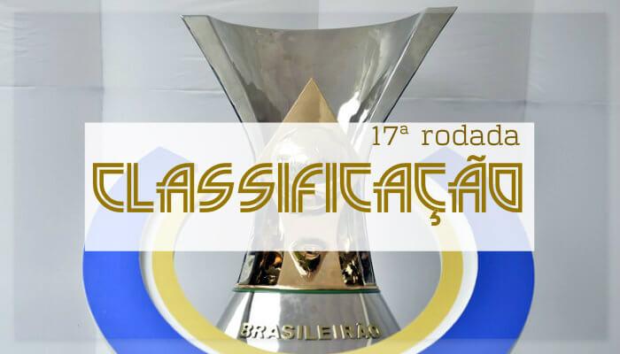 A classificação da Série A do Brasileiro de 2018 após a 17ª rodada