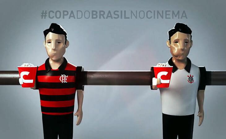 Flamengo x Corinthians, pela Copa do Brasil, em 51 salas de cinema (2 no Recife)