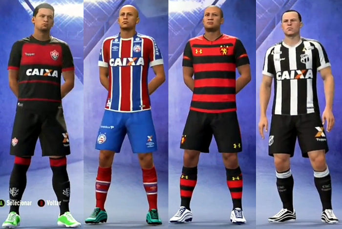 Game | As imagens e escalações de Vitória, Bahia, Sport e Ceará no Fifa 19