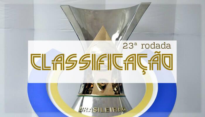 A classificação da Série A do Brasileiro de 2018 após a 23ª rodada