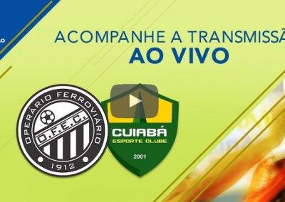 Ao vivo – Transmissão de Operário x Cuiabá, a final da Série C, via CBF TV