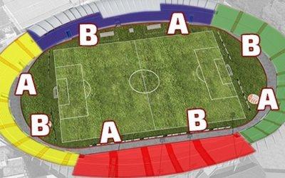 A nova setorização do estádio dos Aflitos, com 19.600 lugares