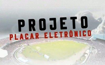 Santa firma parceria e garante a 6ª versão do placar eletrônico do Arruda