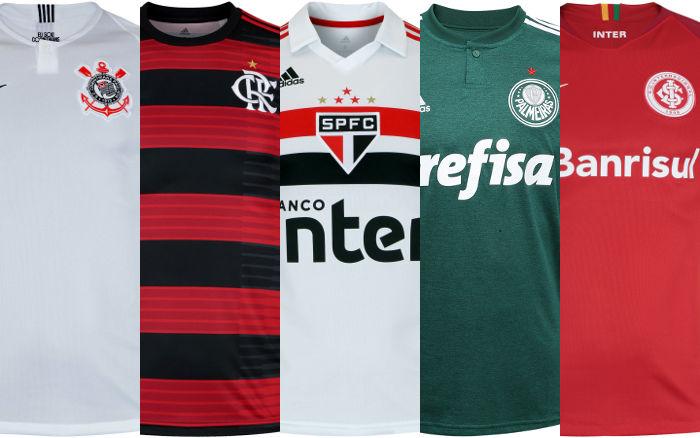 20619d850a434 A Netshoes divulgou a nova versão do seu ranking de vendas de uniformes  oficiais de clubes e seleções, considerando o período entre 1º de janeiro e  31 de ...