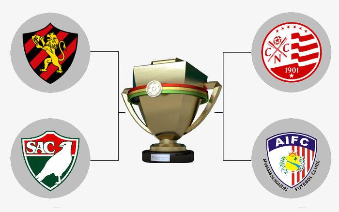 Semifinal do Pernambucano 2019 com Sport x Salgueiro e Náutico x Afogados