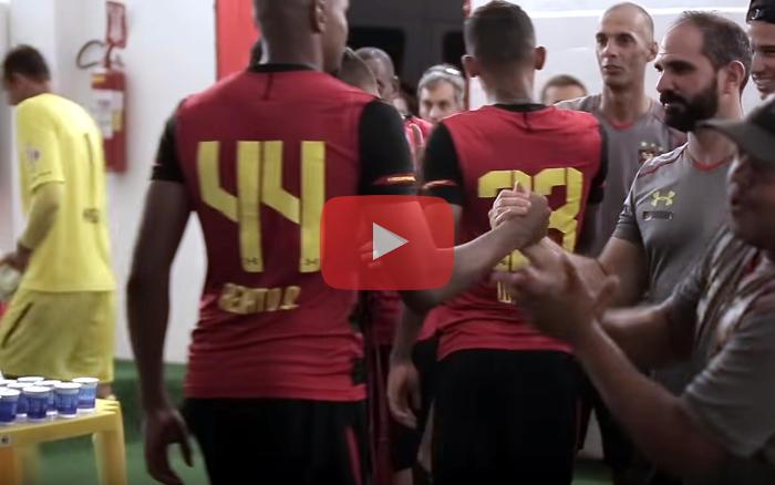 Vídeo   Os bastidores da vitória do Sport na ida da final do Estadual