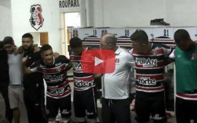 Vídeo | Os bastidores da classificação do Santa à 4ª fase da Copa do Brasil