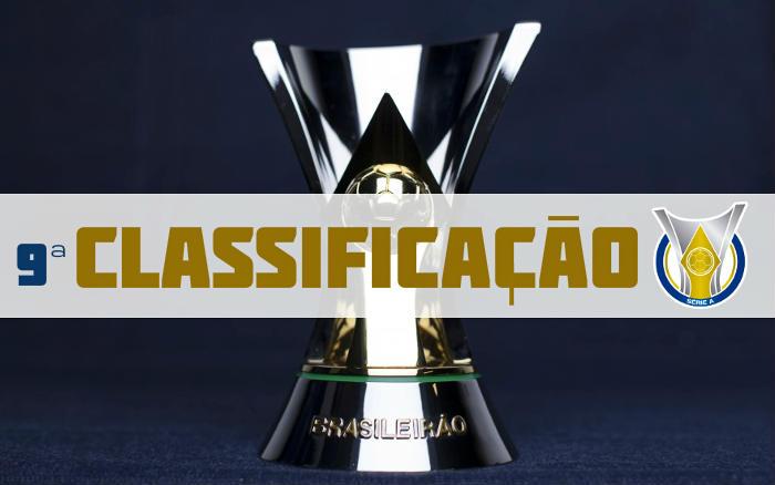 A classificação da Série A de 2019 após a 9ª rodada. Pausa para a Copa América