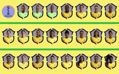 As 23 jogadoras convocadas à Seleção Brasileira para o Mundial. Ainda com Vadão…