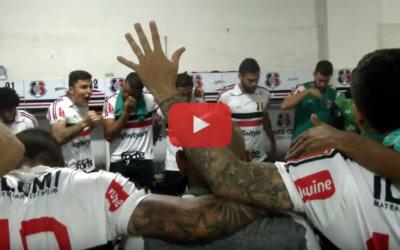 Vídeo | Os bastidores de Santa Cruz 3 x 1 Confiança, pela Série C de 2019