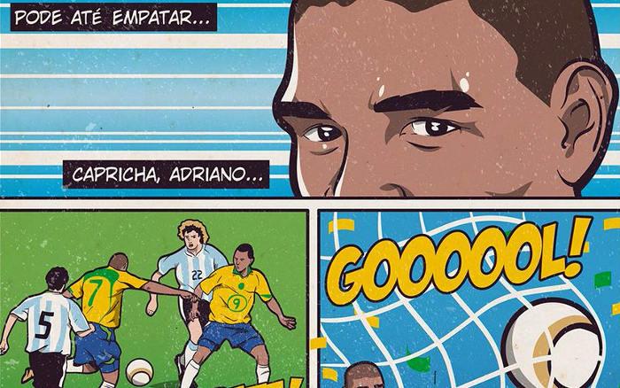 História em Quadrinhos da Seleção Brasileira na Copa América