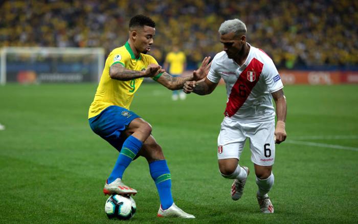 Brasil x Peru, a final da Copa América de 2019, no Maracanã. Na 1ª fase, 5 x 0