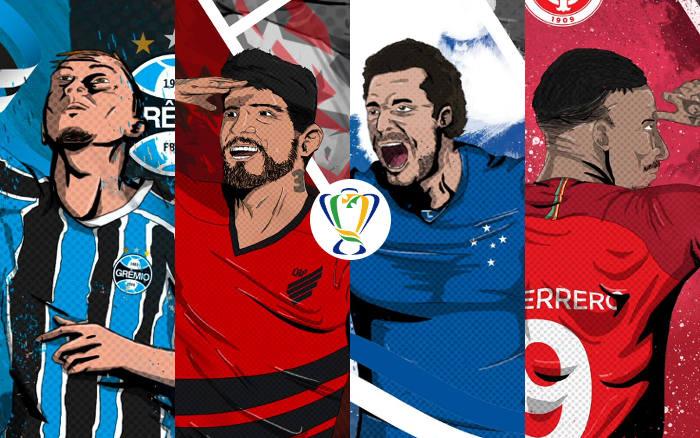Semifinal da Copa do Brasil 2019 com Grêmio x Athletico-PR e Cruzeiro x Internacional