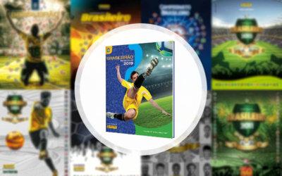 Figurinhas   A capa do 4º álbum oficial do Campeonato Brasileiro, o 33º na história