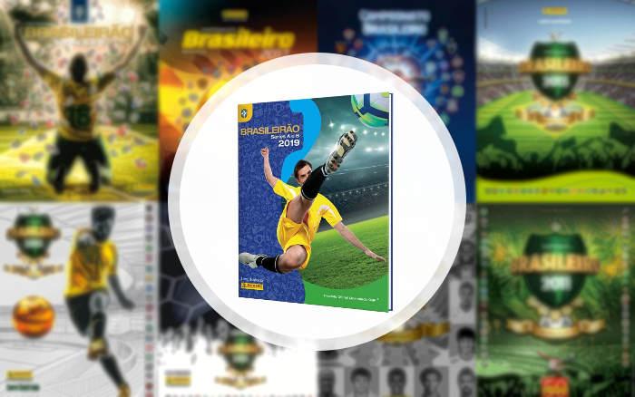 Figurinhas | A capa do 4º álbum oficial do Campeonato Brasileiro, o 33º na história