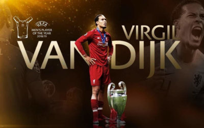 Van Dijk, o melhor jogador da Europa em 2018/2019. O primeiro zagueiro