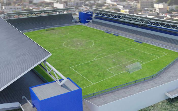 O projeto de modernização do Estádio Ademir Cunha. Parou junto ao Unibol