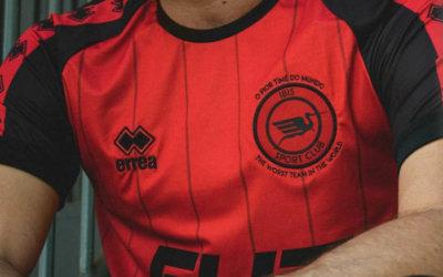 A nova linha de uniformes do Íbis via Erreà, com patrocinador master em 2019