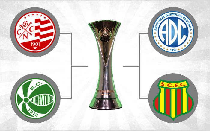 Semifinal da Série C com Náutico x Juventude e Sampaio Corrêa x Confiança