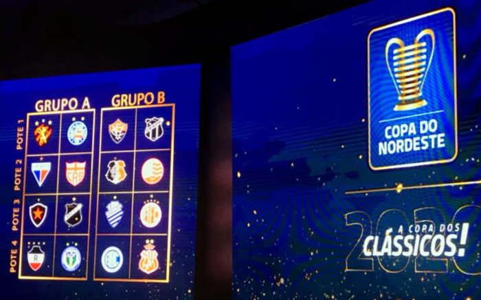 Os grupos da Copa do Nordeste de 2020, com 6 clássicos estaduais na 1ª fase