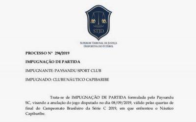 STJD não homologa Náutico x Paysandu e não suspende a Série C. Faz sentido?