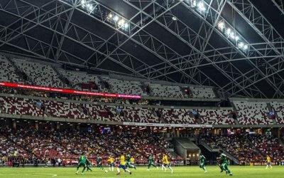Brasil empata com Senegal em estádio vazio em Cingapura. É o Brasil Global Tour…