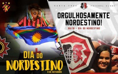 As mensagens dos clubes no Dia do Nordestino em 8 de outubro de 2019