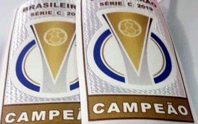 O patch de campeão da Série C para o uniforme do Náutico. Liberado em 2020