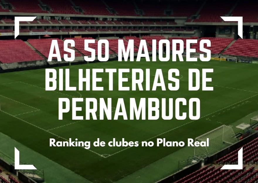 As maiores bilheterias do futebol pernambucano no Plano Real