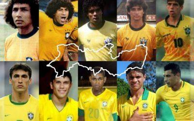 Todos os jogadores cedidos por clubes pernambucanos à Seleção Brasileira. Do Sub 15 ao time principal