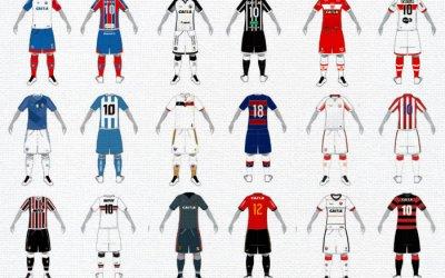 Os uniformes dos principais times do Nordeste cadastrados na CBF em 2018