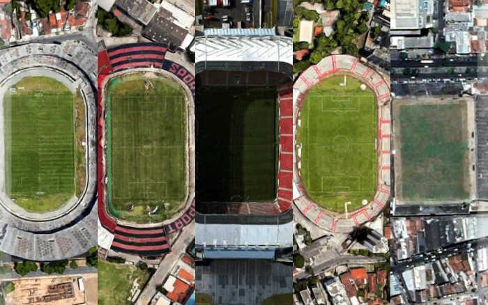 Os 10 maiores públicos na história do Arruda, Ilha do Retiro, Arena Pernambuco, Aflitos e Lacerdão