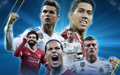 Real Madrid x Liverpool, a final da Liga dos Campeões em 2018. Em campo, o recorde de 17 títulos somados