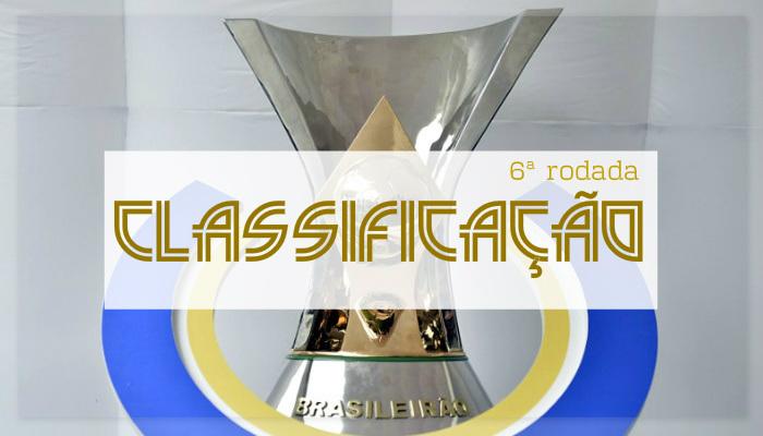 A classificação da Série A do Brasileiro de 2018 após a 6ª rodada