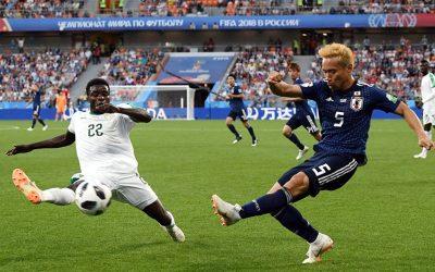 Em partida bem disputada, Senegal e Japão empatam em Ekaterimbugo