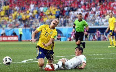 No jogo mais faltoso da Copa, Suécia vence Coreia e pressiona Alemanha