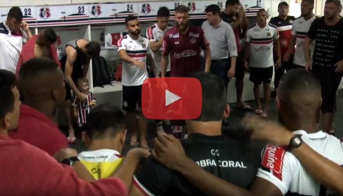 Vídeo – Os bastidores de Santa Cruz 4 x 0 Confiança, pelo Brasileiro de 2018