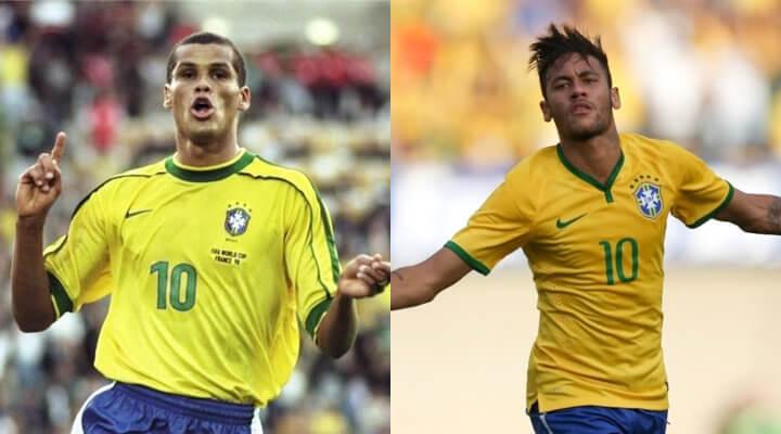 """De Rivaldo para Neymar, de camisa 10 para camisa 10: """"Jogue como sempre"""""""
